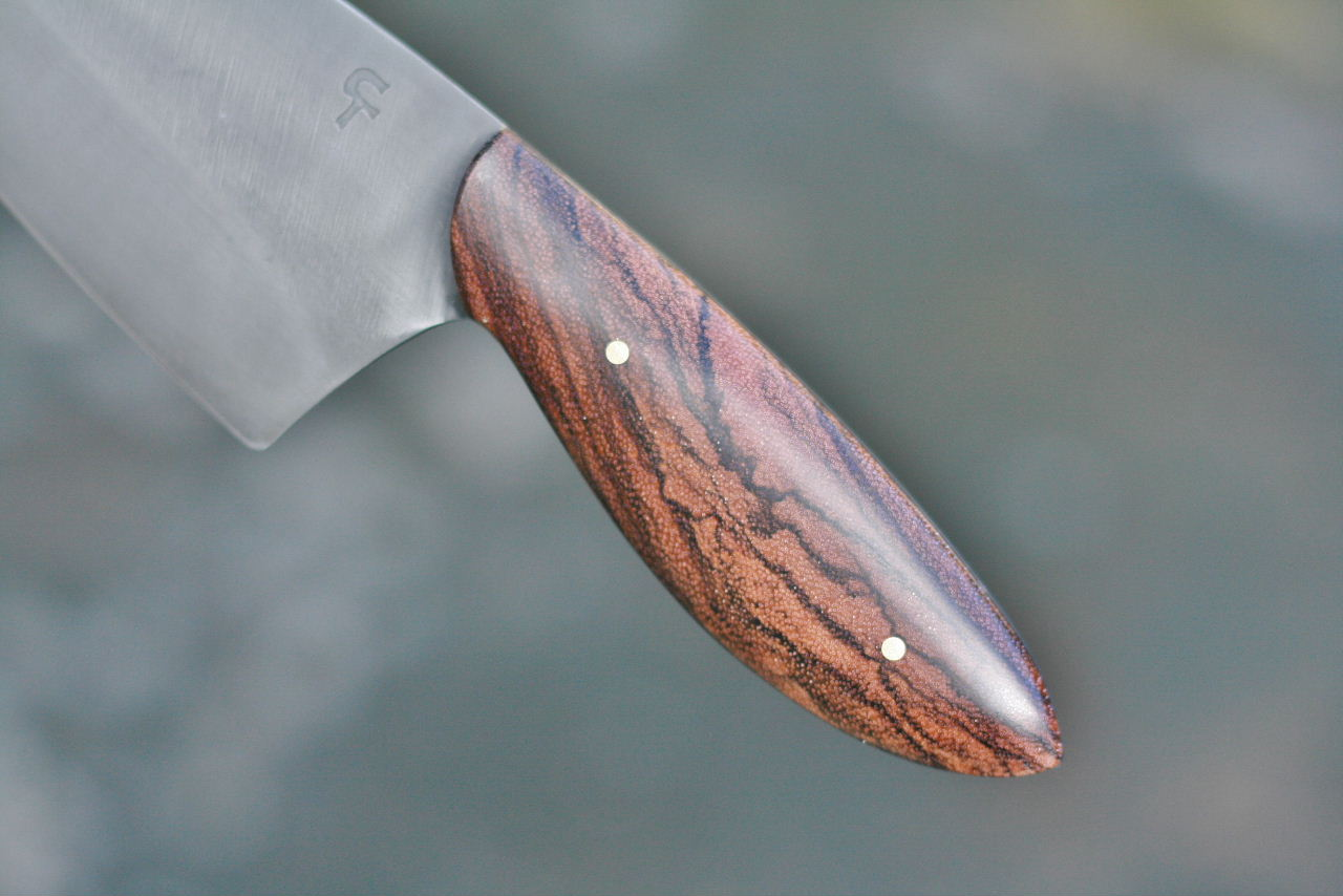 Custom Chefs Knife Zebrawood