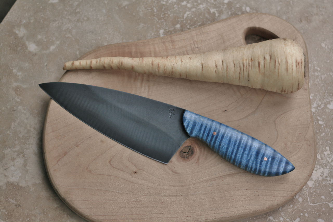 Custom Chefs Knife Baby Blue