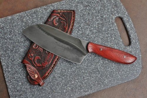Custom Camp/Chefs knife, African blood wood