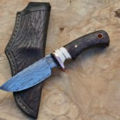 Drop point hunter, wenge wood and whitetail