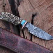 Drop point hunter, Sambar stag and turquoise