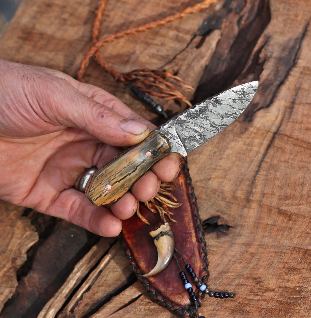Mountain Man/Women neck knife, mammoth ivory